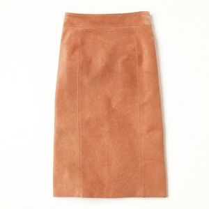 Free People suede high-waisted pencil skirt